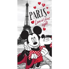 Licenčná osuška Mickey a Minnie Paris 70x140