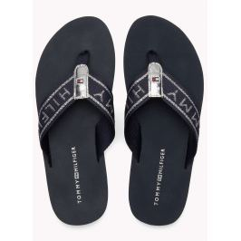 Tommy Hilfiger tmavo modré žabky Flexible Essential Beach Sandal Midnight